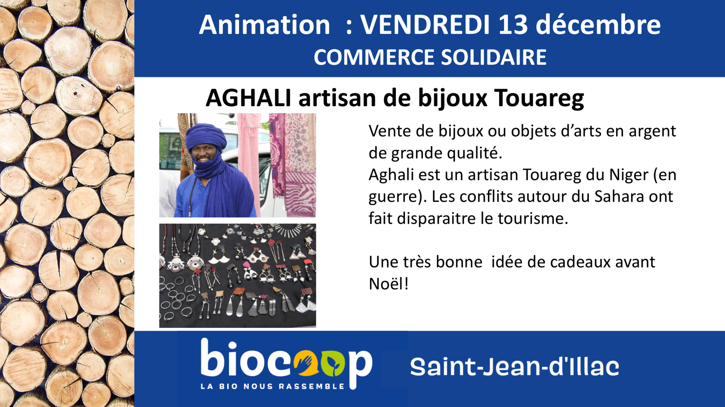"Animation ""Commerce solidaire avec Aghali"""
